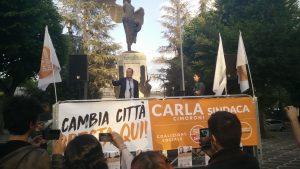 L'Aquila il presidente Luigi de Magistris per Carla Cimaroni