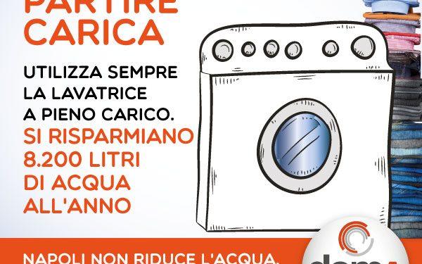 Utilizza la lavatrice a pieno carico, risparmi 8.200 litri anno