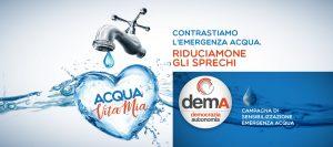 Campagna demA - Sensibilizzazione riduzione consumo acqua
