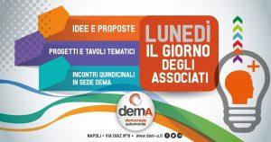 """#inSede: 11 novembre alle ore 18:00 """"Giornata dell'associato demA"""" @ Sede demA Napoli"""