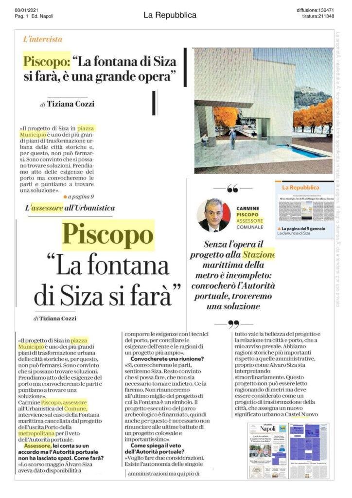 Carmine Piscopo, Fontana di Siza